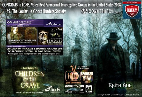 The Louisville Ghost Hunters Society Special Awards!